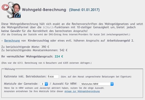 Rechner2 - (Wohngeld, rechner, FSJ)