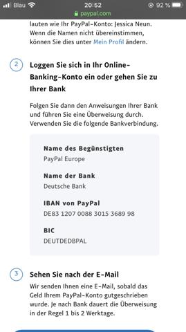 Paypal Minus Gehen