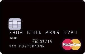 Schwarze Mastercard - (Kreditkarte, Barclays)