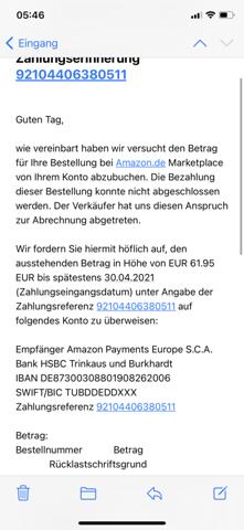 Amazon erstattet Geld in Höhe von 140€?