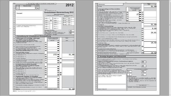 ustva steuern steuererklrung finanzamt - Steuererklarung Beispiel