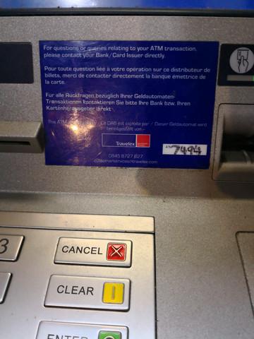 - (Ausland, Geldautomat, Abbuchung)