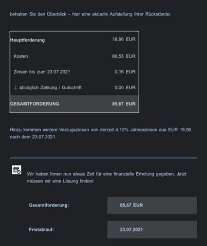 Inkasso/Maxdome bezahlen?