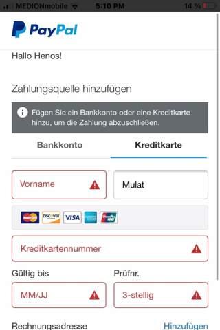 Kann man auch ohne Bankkonto/Kreditkarte bei Paypal mit Guthaben bezahlen?